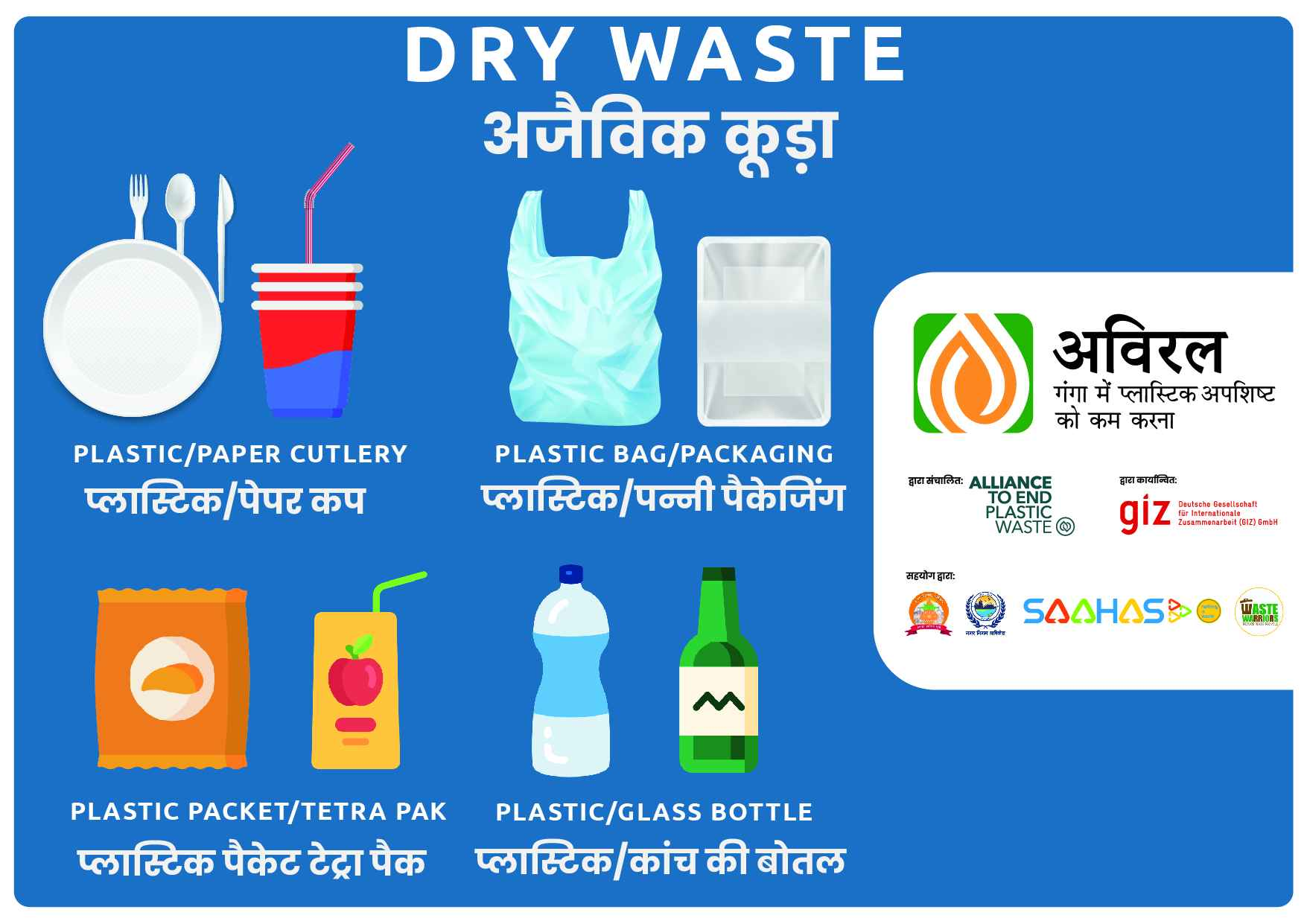 Bin Posters for Events- Dry Waste